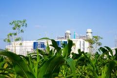 Planta de la corriente eléctrica de la turbina de gas Fotografía de archivo libre de regalías