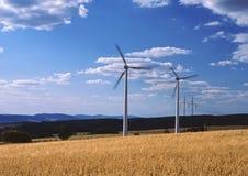 Planta de la energía eólica Imagen de archivo libre de regalías