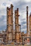 Planta de la industria petroquímica de la refinería de petróleo Foto de archivo libre de regalías