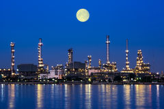Planta de la refinería de petróleo foto de archivo