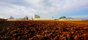 Planta de produção do álcool etílico Foto de Stock
