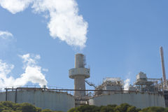 Planta de refinaria de alumínio Imagem de Stock Royalty Free