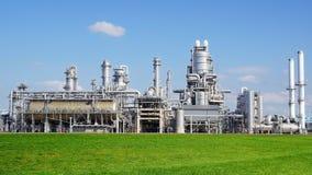 Planta de refinaria no porto de Europort, Rotterdam fotografia de stock royalty free