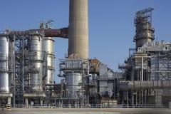 Planta de refinaria no porto de Europort, Rotterdam Fotos de Stock Royalty Free