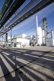Planta de refinería del etanol Foto de archivo libre de regalías