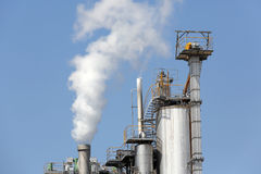 Planta de refinería industrial Fotos de archivo