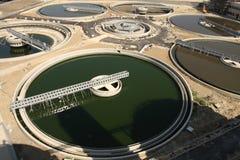Planta de tratamento de águas residuais Fotografia de Stock Royalty Free