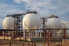 Planta de tratamiento del gas. Imagen de archivo libre de regalías