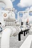 Planta de tratamiento del gas natural Fotografía de archivo