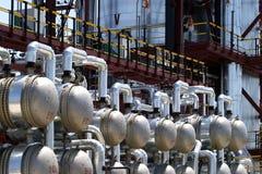 Planta de tratamiento del petróleo Imagen de archivo libre de regalías