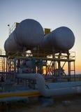Planta de tratamiento del petróleo y gas Fotos de archivo