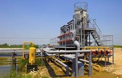 Planta de tratamiento del petróleo y gas Fotografía de archivo libre de regalías