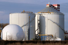 Planta del biogás Imagen de archivo libre de regalías