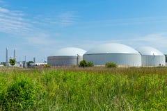 Planta del biogás Imágenes de archivo libres de regalías