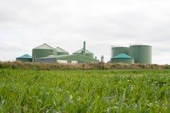 Planta del biogás Imagen de archivo