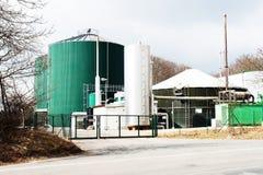 Planta del biogás para la generación de la energía Fotografía de archivo