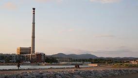 Planta del carbón del poder termal metrajes