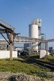 Planta del cemento Torre del tanque fotografía de archivo