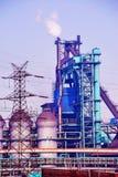Planta del hierro y siderúrgica Fotografía de archivo
