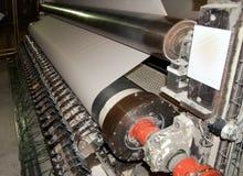 Planta del molino del papel y de pulpa - máquina de fourdrinier imagen de archivo libre de regalías