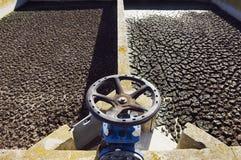 Planta del saneamiento de las aguas residuales Fotografía de archivo libre de regalías