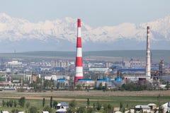 Planta del tubo en Shymkent kazakhstan Imagen de archivo