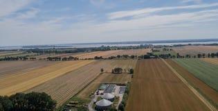 Planta do biogás para a produção e a energia de eletricidade imagens de stock royalty free