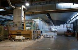 Planta do moinho do papel e de polpa - máquina de Fourdrinier Imagem de Stock Royalty Free