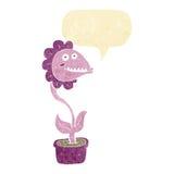 planta do monstro dos desenhos animados com bolha do discurso Fotografia de Stock