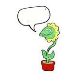 planta do monstro dos desenhos animados com bolha do discurso Imagem de Stock