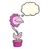 planta do monstro dos desenhos animados com bolha do pensamento Imagem de Stock