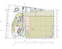 Planta do rés-do-chão do edifício Ilustração Royalty Free
