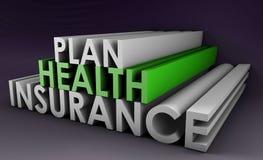 Planta do seguro de saúde ilustração stock
