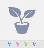 Planta em pasta - ícones do granito ilustração royalty free