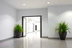 Planta en el edificio de oficinas Fotografía de archivo