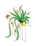 Planta en un crisol libre illustration