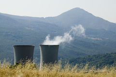 Planta Geothermal fotografia de stock