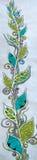 Planta grande del ejemplo de la materia textil del batik Fotos de archivo
