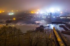 planta Hidro-elétrica na cidade de Oregon Fotos de Stock Royalty Free
