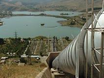 Planta hidroeléctrica fotos de archivo
