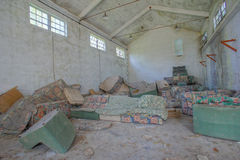 Planta industrial arruinada velha abandonada Fotografia de Stock Royalty Free