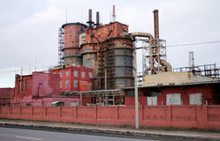 Planta industrial de Fotografía de archivo libre de regalías