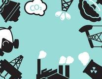 Planta industrial ou fábrica Ecologia poluição Imagem de Stock Royalty Free
