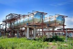 Planta, los tanques para la gasolina Fotografía de archivo