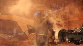 Planta metalúrgica, bastidor de fundición Presión del taphole de la máquina Equipo metalúrgico Fotografía de archivo libre de regalías