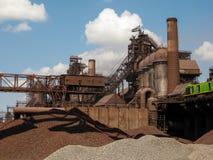 Planta metalúrgica do distrito industrial Fotografia de Stock Royalty Free