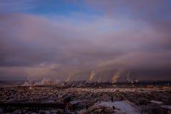 Planta metalúrgica en Rusia Foto de archivo libre de regalías