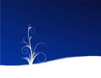 Planta no fundo azul ilustração do vetor