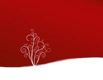 Planta no fundo vermelho ilustração royalty free