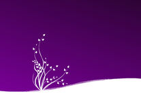 Planta no fundo violeta ilustração stock